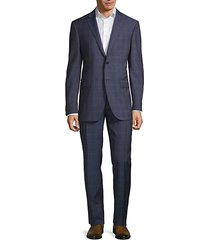 academy-fit virgin wool plaid suit