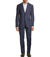 academy-fit virgin wool plaid suit