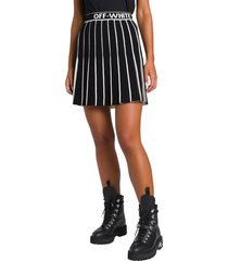 off-white tachnical knit pleated mini skirt