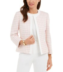 kasper petite checked jacket