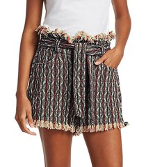 vanity striped tweed shorts