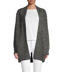 open-front wool blend cardigan