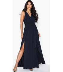 ax paris v neck side split maxi dress maxiklänningar
