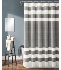 "cape cod stripe yarn dyed cotton 72"" x 72"" shower curtain bedding"