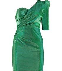 elisabetta franchi celyn b. lurex one shoulder dress