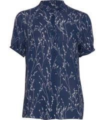 fiaiw shirt blouses short-sleeved blauw inwear