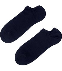 calzedonia - light cotton ankle socks, 40-41, blue, men