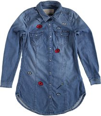 garcia lange denim blouse