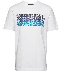 gradient logo artwork tee t-shirts short-sleeved vit scotch & soda