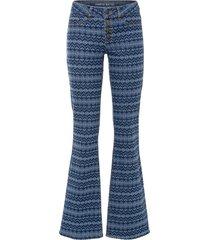 jeans a zampa con fantasia etnica in cotone biologico (blu) - rainbow