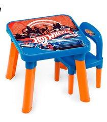 mesa com cadeira hot wheels - fun divirta-se