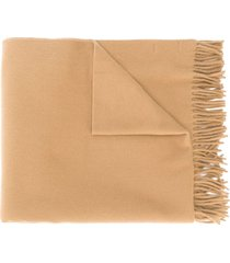 a.p.c. fringed oversized scarf - neutrals