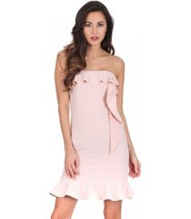 ax paris bandeau frill detail mini dress