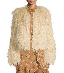 chubby faux-fur coat