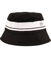 sergio tacchini greater bucket hat | black/white | sta14008-166