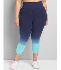 lane bryant women's livi high-rise signature stretch capri legging 34/36 capri blue