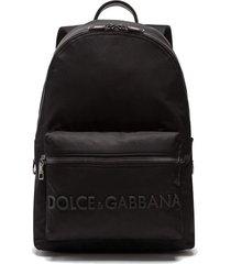 dolce & gabbana logo rubber backpacks