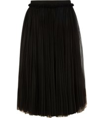 dolce & gabbana flared pleated skirt