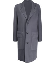 ami paris unstructured single breasted coat - blue