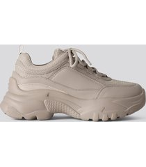 na-kd shoes chunky sneakers - grey