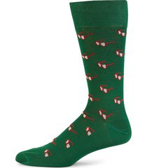 paul smith men's sunglasses mid-calf socks - green