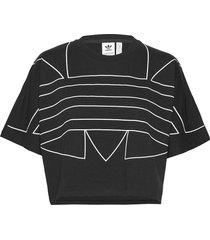 lrg logo tee t-shirts & tops short-sleeved svart adidas originals
