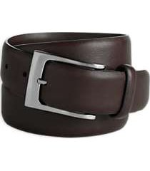 men's wearhouse brown plain edge belt