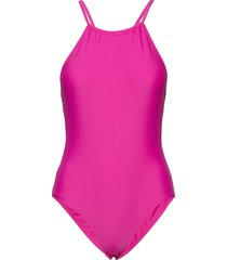 core quick dry swim cross back costume baddräkt badkläder rosa french connection
