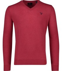 gant trui heren lamswol rood