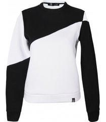bluza biało-czarna