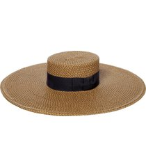 women's eric javits bey squishee wide brim sun hat - brown
