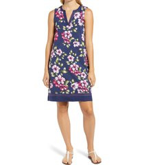 tommy bahama kalahari blooms floral shift dress, size small in island navy at nordstrom