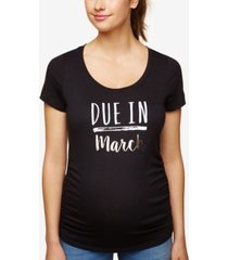motherhood maternity due in march maternity tee