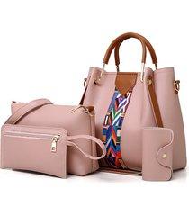 tracolla a spalla in quattro pezzi di ecopelle donna borsa clutch borsa