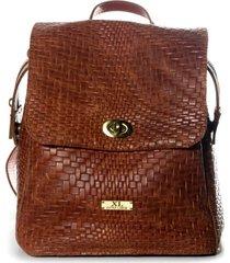 cartera de cuero chocolate xl extra large ruan mochila