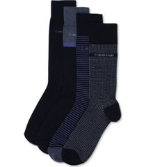 calvin klein men's 4-pack stripe/heel dress socks