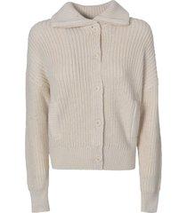 360 sweater ribbed woven plain cardigan