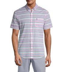 short-sleeve horizontal stripe shirt