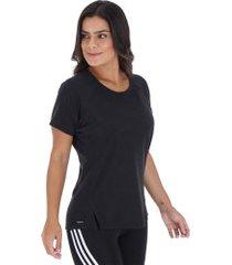 camiseta adidas training aeroknit - feminina - preto