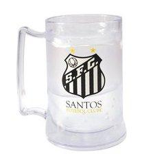 caneca gel santos incolor escudo
