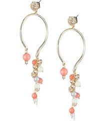 10k gold crystal bead earrings