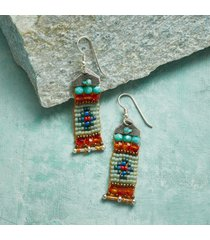 banner day beaded earrings