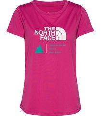 w glacier tee t-shirts & tops short-sleeved rosa the north face