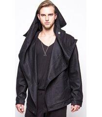 kurtka z włoskiej wełny czarna
