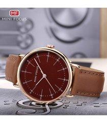 reloj para hombre/correa de piel/ mini focus / 0056g / reloj para