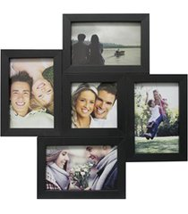 painel multifotos para 5 fotos 37x37cm preto