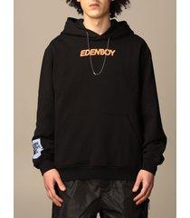 mcq alexander mcqueen mcq sweatshirt eden high hoodie by mcq in cotton with back print