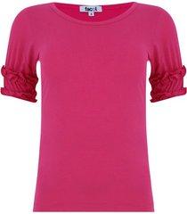 camiseta arandelas rosada color rosado,talla 6