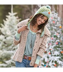 hearty cable cardigan sweater