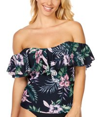 island escape san joaquin floral la flor tankini, created for macy's women's swimsuit